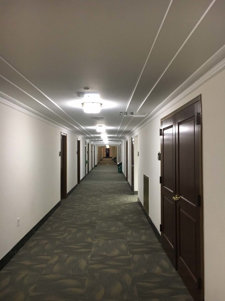 Commercial Basement Stair Lighting: LED Lighting Replacement